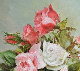 Roses for You original painting by Danutė Virbickienė. Talk Of Flowers