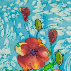 Poppies original painting by Giedrė Kanapeckaitė. For children room