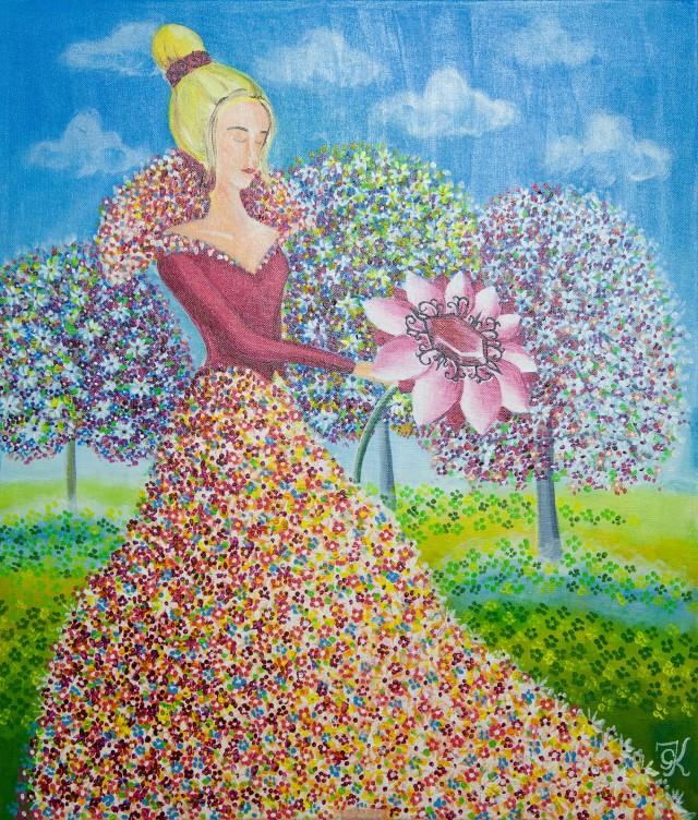 Jewel of Life original painting by Giedrė Kanapeckaitė. For children room