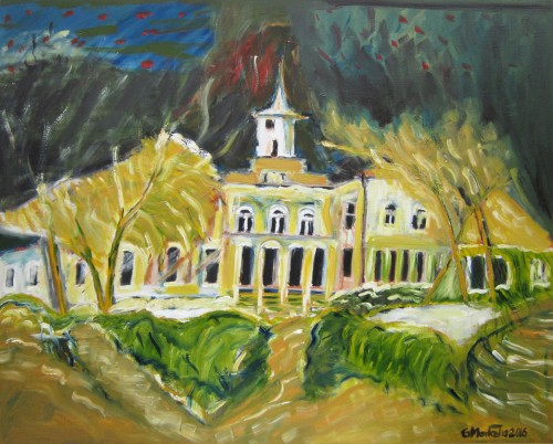 Astrava Manor original painting by Gitas Markutis. Picked landscapes