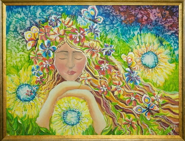 Dream original painting by Giedrė Kanapeckaitė. For children room