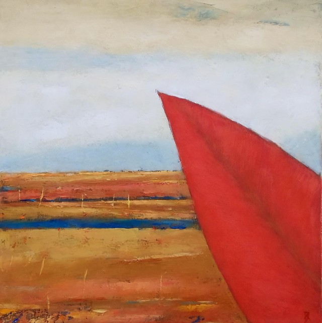 Landscape with Red Leaf