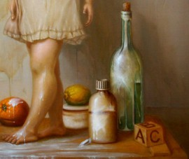 Still Life With Girl original painting by Vaidas Bakutis. Oil painting