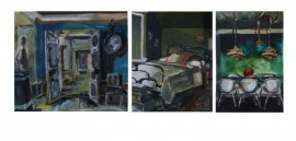 Interiors. Triptych