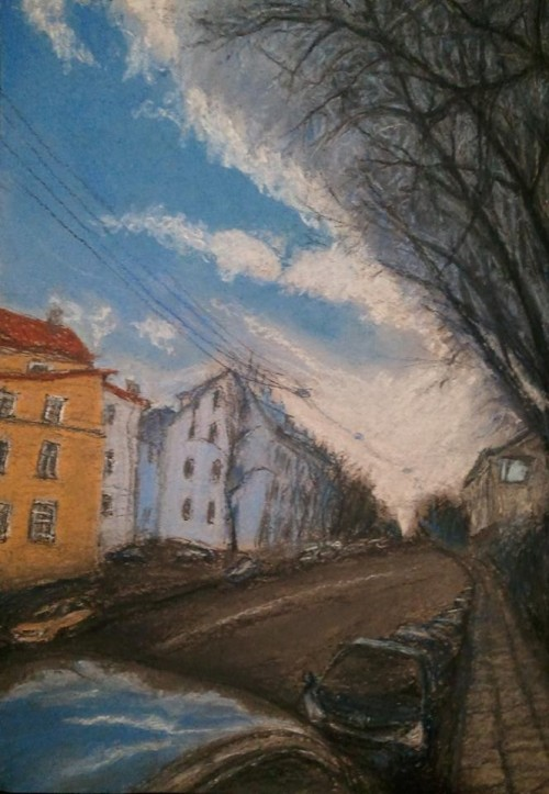 Vilnius. Naugarduko Street Or The Cloud