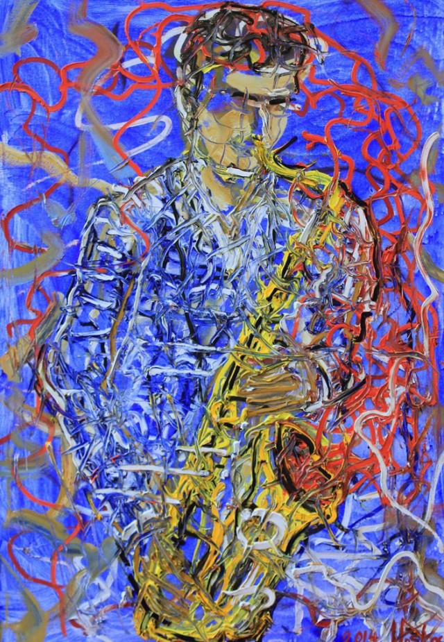 Saxophonist (blue jazz)