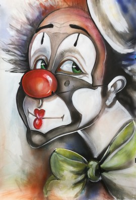 Clown with a Green Bun