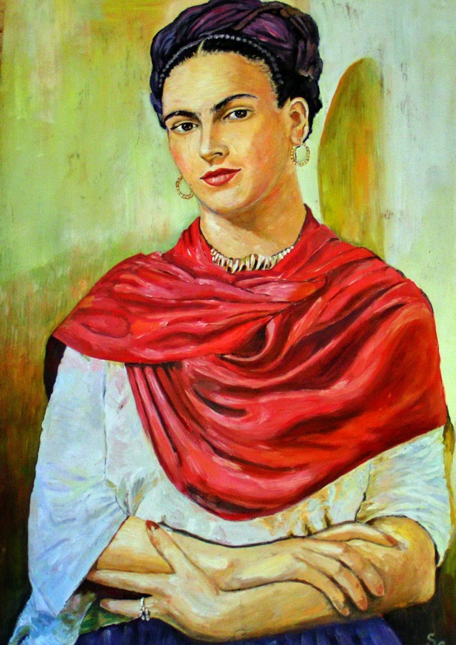 Frida original painting by Svetlana Grigonienė. Other technique