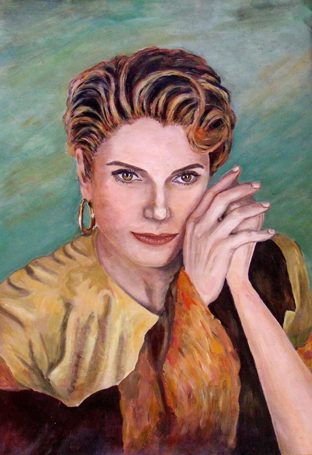 Portrait of a Woman original painting by Svetlana Grigonienė. Acrylic painting