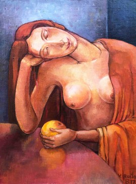 Woman With An Orange