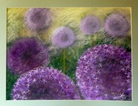 Decorative Garlic original painting by Gražina Luckutė-Bukienė. Pastel
