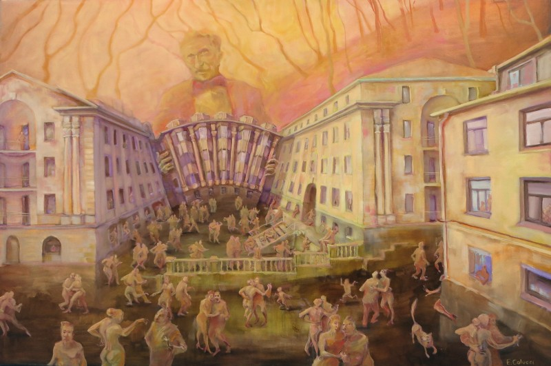 Buy Tango Of Dawn Trail - painting by Eglė Colucci