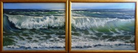 The Sea 56 (diptych)