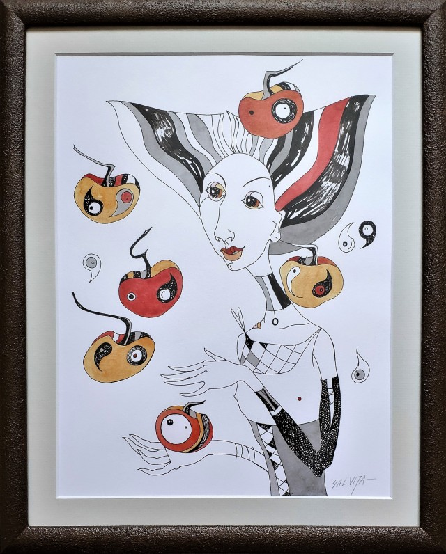 Lady with apples