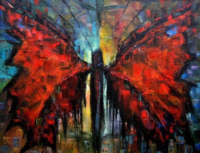 Phoenix original painting by Leonardas Černiauskas. Oil painting