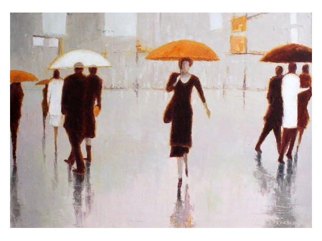 Warm Rain original painting by Rimantas Virbickas. Oil painting