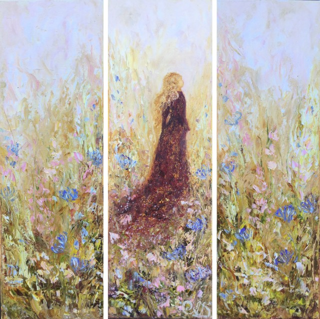 Blossom Path Of A Meadow Girl