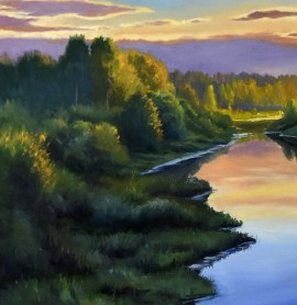 Landscape In The Evening Of Summer