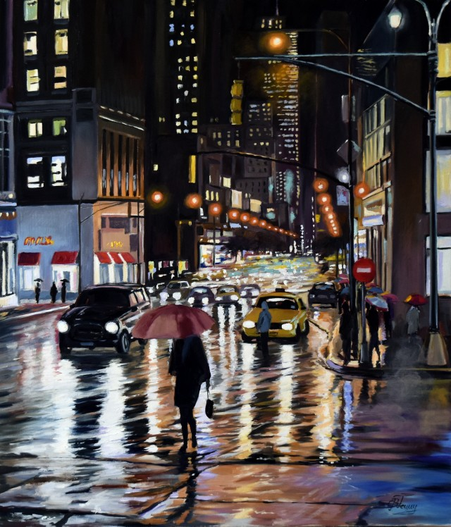 Rainy Evening In New York