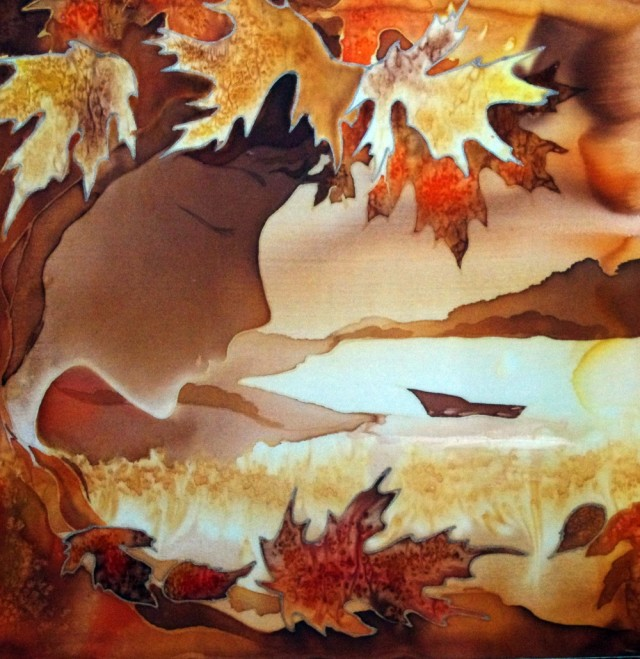 Autumn original painting by Svetlana Grigonienė. Fantastic