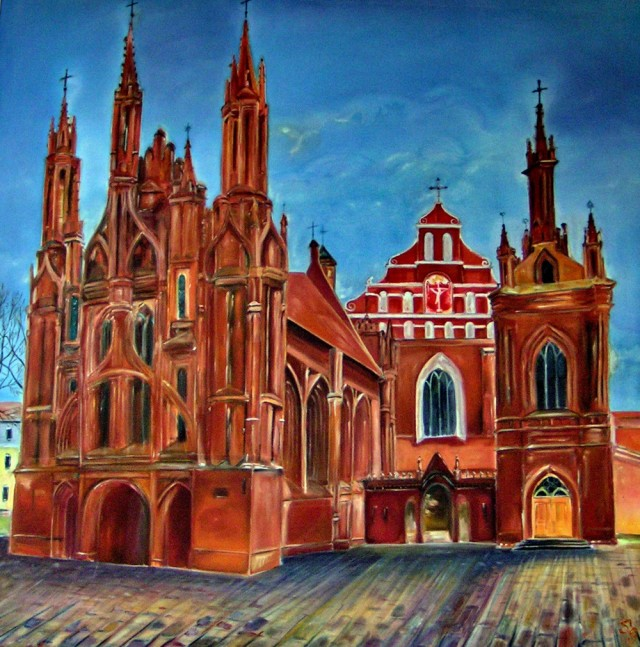 Šv. Ona Church original painting by Svetlana Grigonienė. Other technique