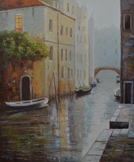 Morning by the canal