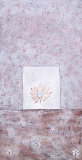 Lotus original painting by Lina Zavadskė. Other technique