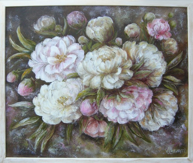 Ornate peonies