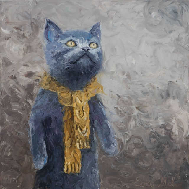 Cat With Yellow Scarf