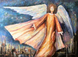 From angels life. In the night sky
