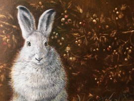 Winter Rabbit In The Forest