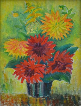 Still Life With Dahlias
