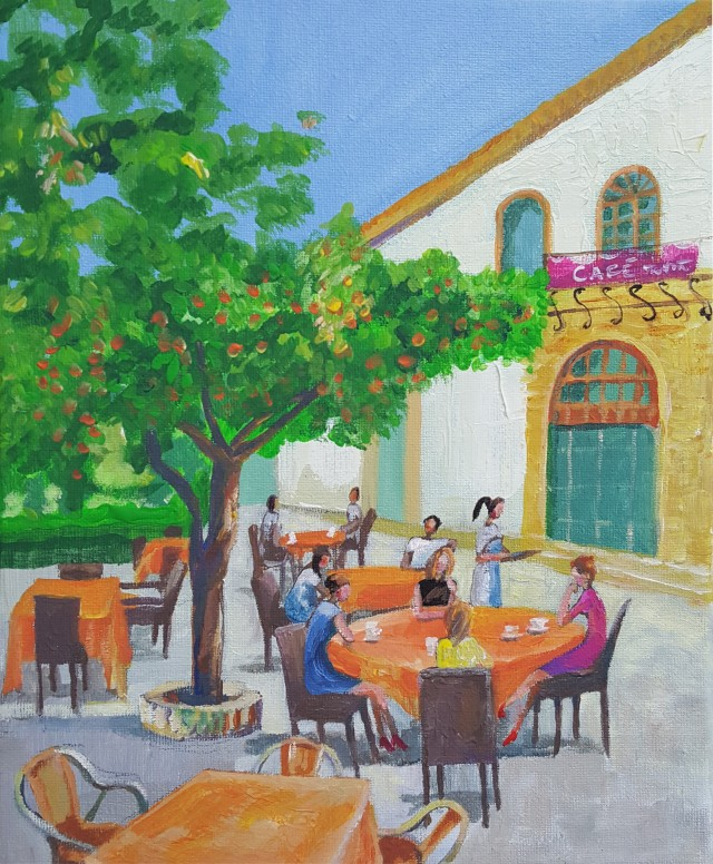 Breakfast Under The Orange Tree