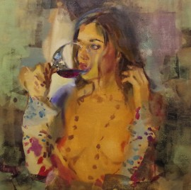 Evening With Glass Of Wine
