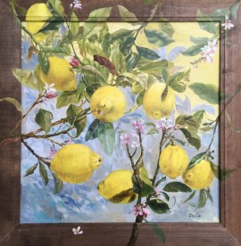 The blossom of lemon tree