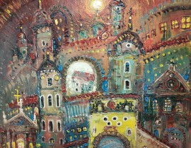 Panorama of Vilnius. Abstraction