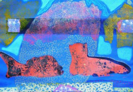Wish To Be With Friends original painting by Arvydas Švirmickas. Other technique