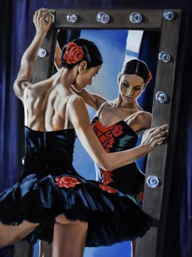 The Black Swan by the Mirror