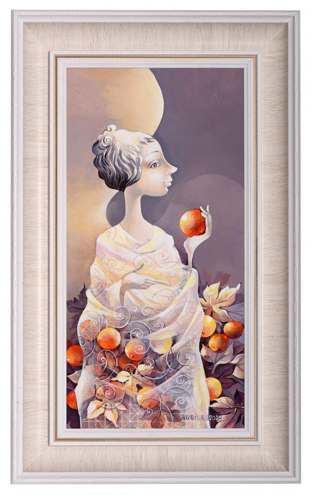 Angel With Red Apple