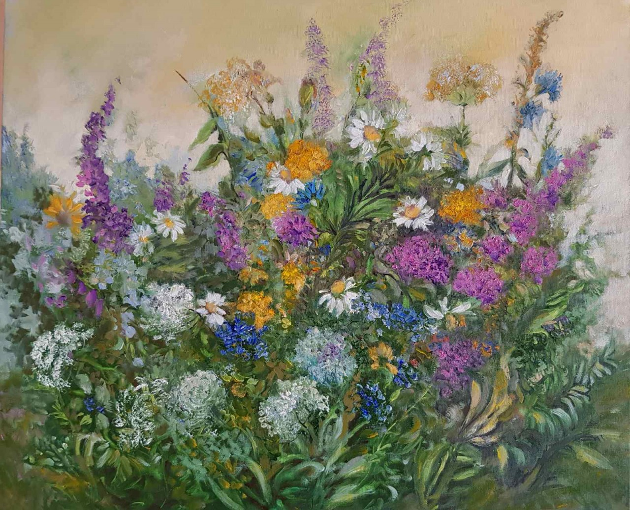 Buy Wild Flowers Painting By Birutė Butkienė