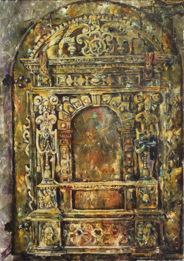 The Sacristy Door Of Kretinga Church