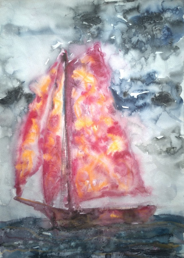Ship With Pink Sails