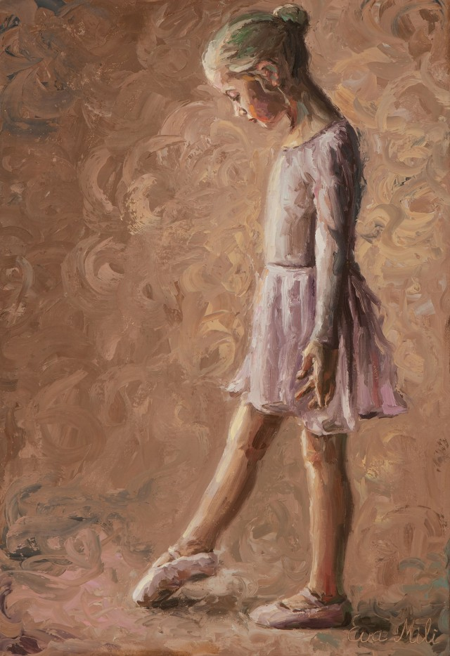 Little Ballerina With Pink Suit