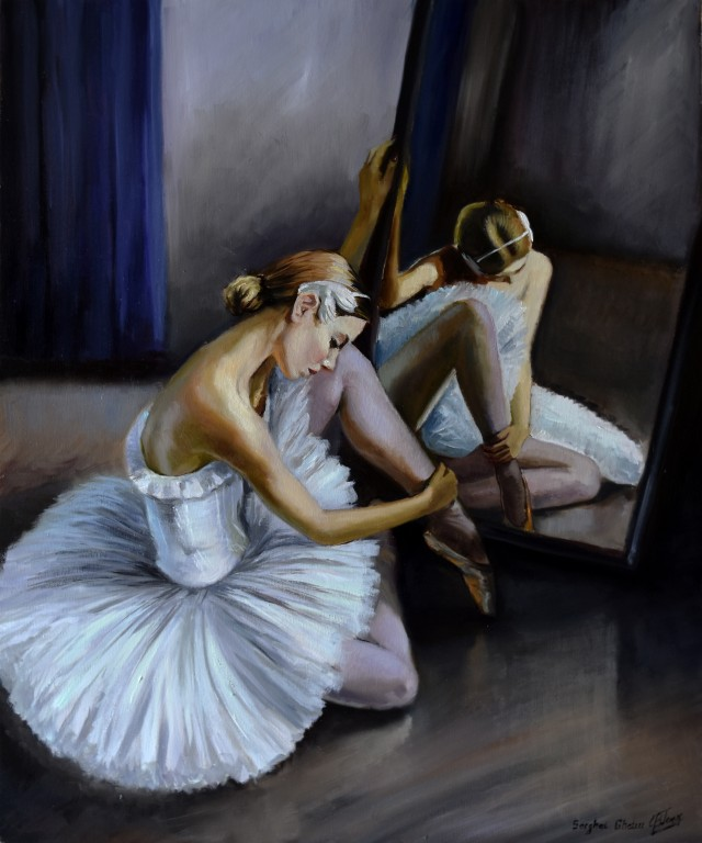 Ballerina By The Mirror