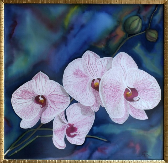 Orchids original painting by Erika Ruginienė. Other technique