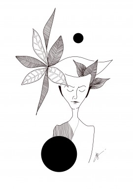 A Girl With Leaves