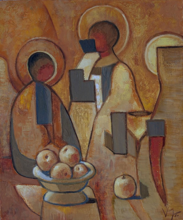 Still Life With Icon And Apples