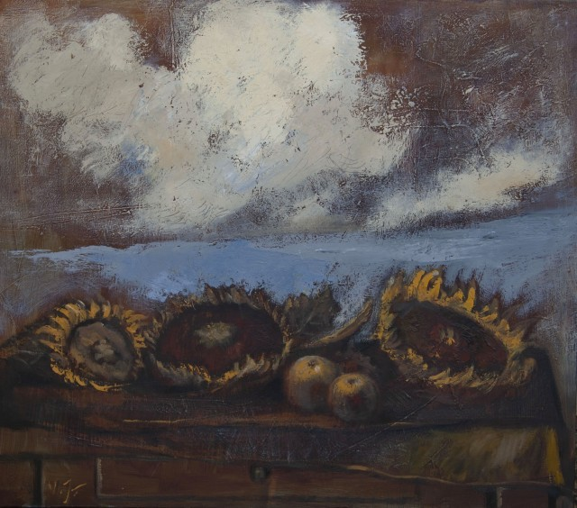 Still Life With Sunflowers And Clouds