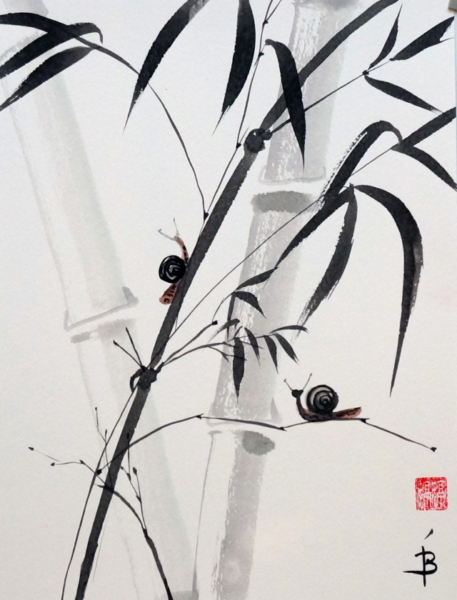 Snails and bamboo