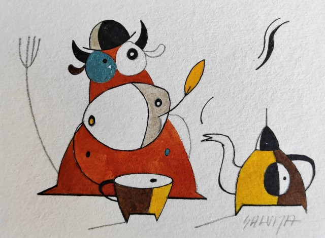 """It is not yet the evening ... From the cycle """"Stories of Cows"""""""